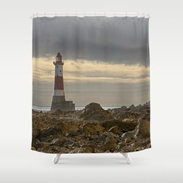 Beachy Head Lighthouse And Foreshore Shower Curtain