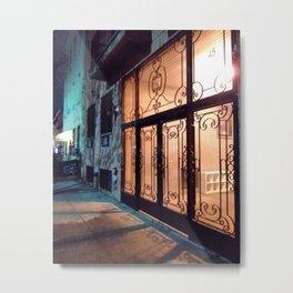 Illuminated Bushwick Door (2017), from Roberta Winters Photography Metal Print