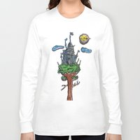castle in the sky Long Sleeve T-shirts featuring Castle in the Sky by Sarah Maurer