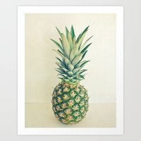 pineapple Art Prints featuring Pineapple by Cassia Beck