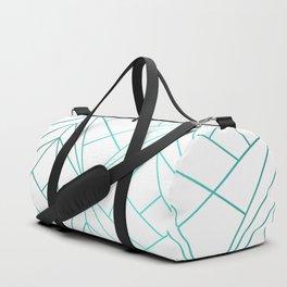 Geometric Turquoise Pattern Duffle Bag