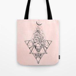 Roses in Moonlight Pink Tote Bag
