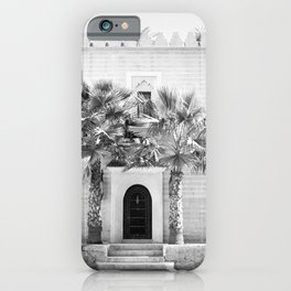 """Travel photography print """"Magical Marrakech"""" photo art made in Morocco. Black and white. iPhone Case"""