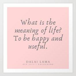 126 | Dalai Lama Quotes 190504 Art Print