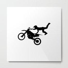 Motocross High Flying Jump Metal Print