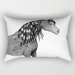 Dapple Grey Horse Rectangular Pillow
