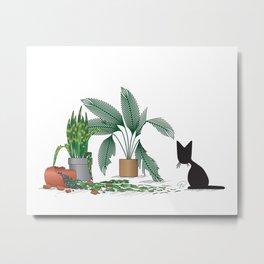 House Salad (The Naughty Kitten) Metal Print
