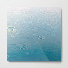 water-lightblue Metal Print