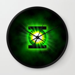 Green Lantern Power Of The Ring Wall Clock
