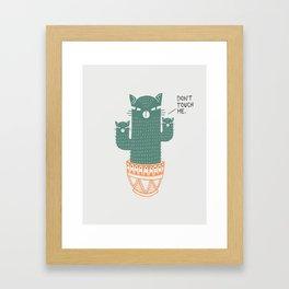 Catcus Framed Art Print