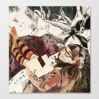 surrealism Canvas Prints featuring Surrealism by Samantha Groenestyn