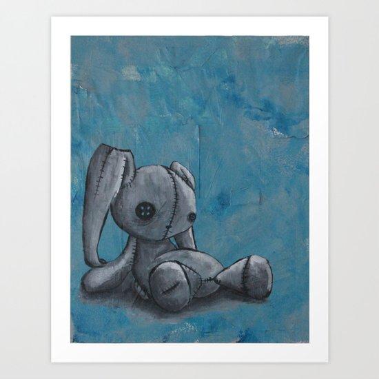 Sad Bunny Art Print