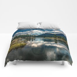 Snake River Revival - Morning Along Snake River in Grand Tetons Comforters