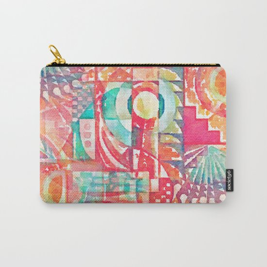 Sunshine Geometry in Watercolor Carry-All Pouch