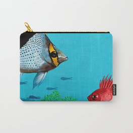 Butterfly & Bigeye fishes Carry-All Pouch