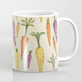 Heirloom Carrots on Cream Coffee Mug