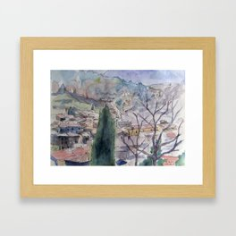Fa Rooftops Framed Art Print