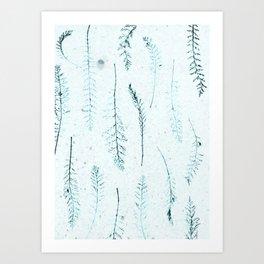 Botanical Pattern 3 (blue) Art Print