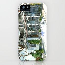 A Cozy Winter Cottage iPhone Case
