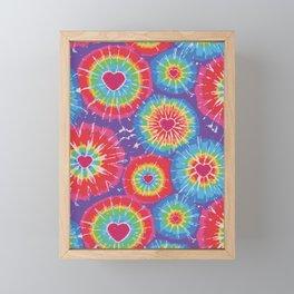 Love Tye Dye Framed Mini Art Print