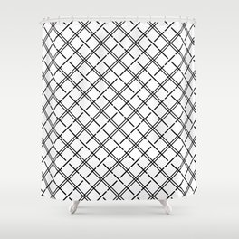 Isla - Black and White Pattern Shower Curtain