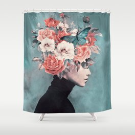 blooming 3 Shower Curtain