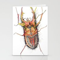 beetle Stationery Cards featuring Beetle by Cherry Virginia