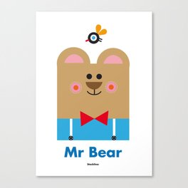 Mr Bear Canvas Print