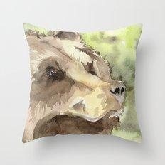 watercolor bear Throw Pillow