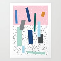friday Art Prints featuring Friday by Mimmi Wide
