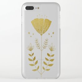 Folky Flower Clear iPhone Case