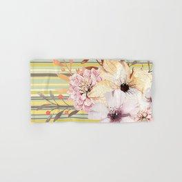 Floral Spring Stripes Hand & Bath Towel