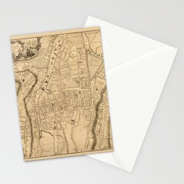 Map Of Cork 1771 Stationery Cards