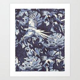 Tropical II - watercolor Art Print