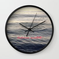 hakuna Wall Clocks featuring Hakuna Matata by Christine Hall