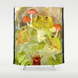 Toad Council Shower Curtain