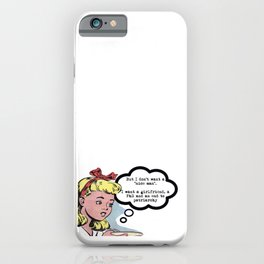 """I don't want a """"nice man"""" (feminism) iPhone Case"""