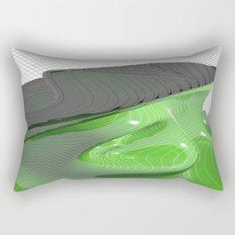 Waving green mathematical surface Rectangular Pillow