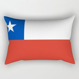 flag of Chile- -Spanish,Chile,chilean,chileno,chilena,Santiago,Valparaiso,Andes,Neruda. Rectangular Pillow