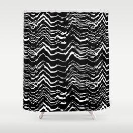 Dark Glitch Abstract Pattern Shower Curtain