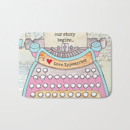 Typewriter #6 Bath Mat