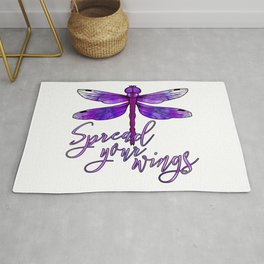 Dragonfly - Spread your wings, Purple Rug