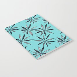 Elegant Thin Flowers With Dots And Swirls Notebook