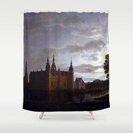 Johan Christian Claussen Dahl Frederiksborg Castle Shower Curtain