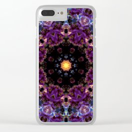 Deep Purple Mandala Clear iPhone Case