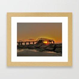 Morning at the Pier Framed Art Print