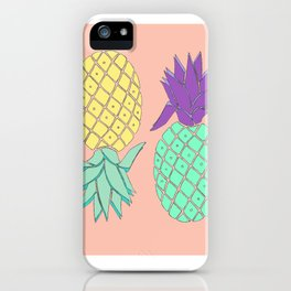 pineapple large coral iPhone Case