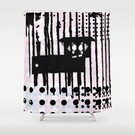 ODD MIKEY Stuff - Black'n'pink Shower Curtain