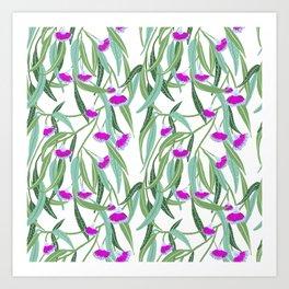 Pink Eucalyptus flowers Art Print