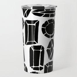 gemstone black and white Travel Mug